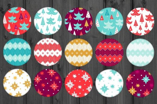60 Christmas Seamless Patterns ((eps (126 files)