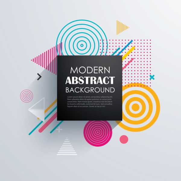 Abstract circle geometric pattern design and vector background ((eps (18 files)