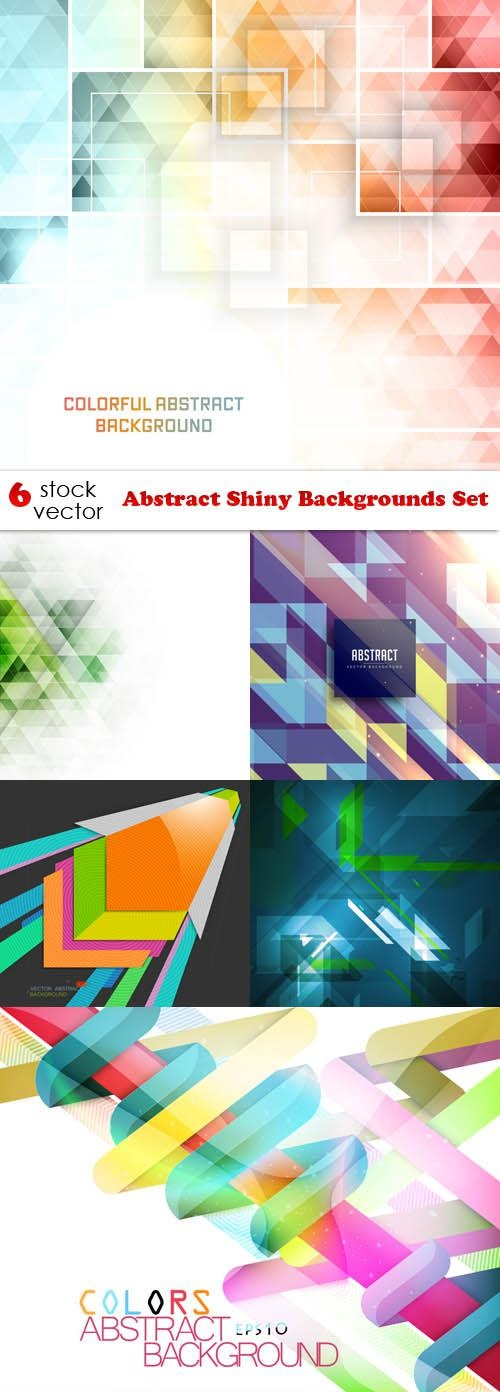 Abstract Shiny Backgrounds Set ((aitff (13 files)