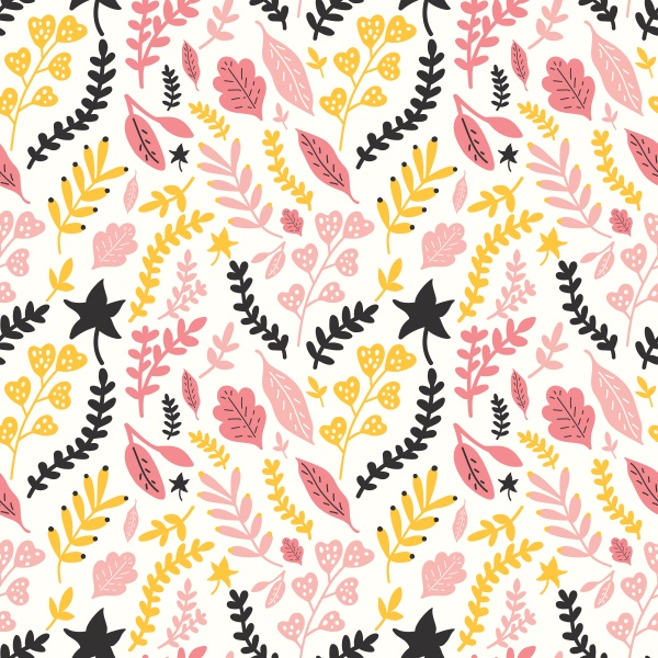 Autumn Flowers Seamless Patterns (24 files)