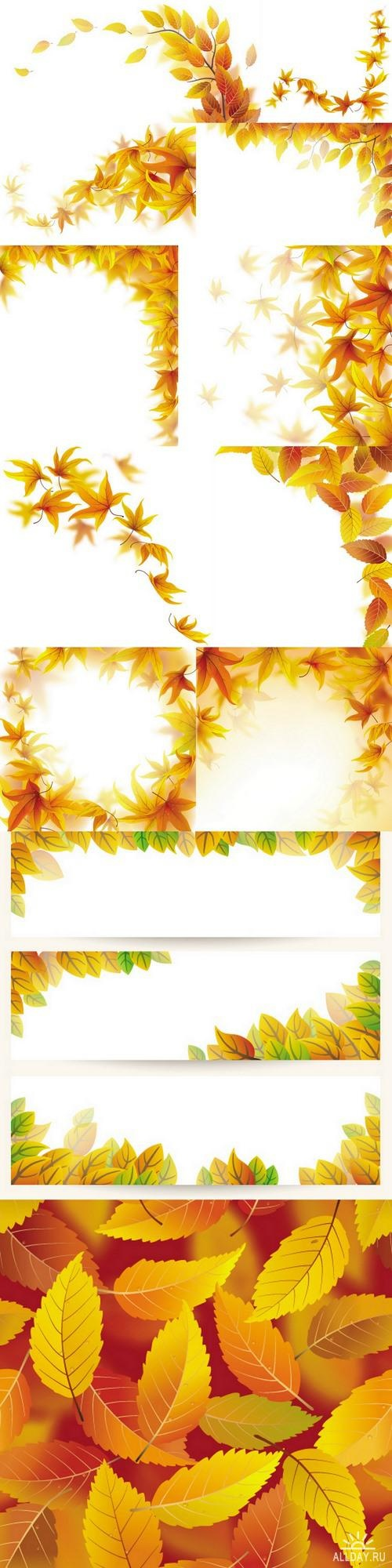 Autumn maple leaves ((eps (13 files)