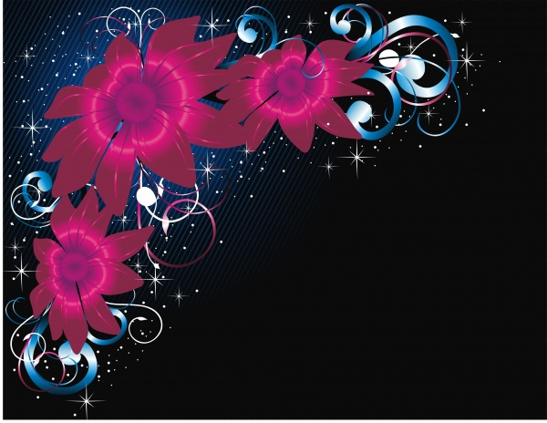 Background is a flower vector image (50 files)