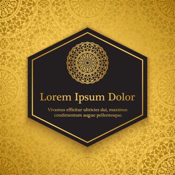 Background templates with crochet lace, gold damask ornament, mandala background ((eps (30 files)