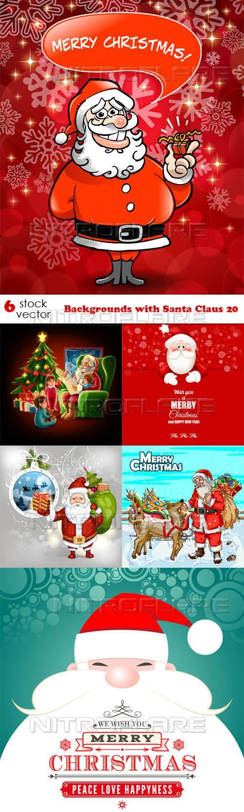 Backgrounds with Santa Claus 20 ((aitff (9 files)