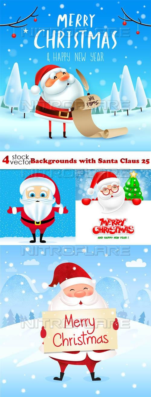 Backgrounds with Santa Claus 26 ((aitff (8 files)