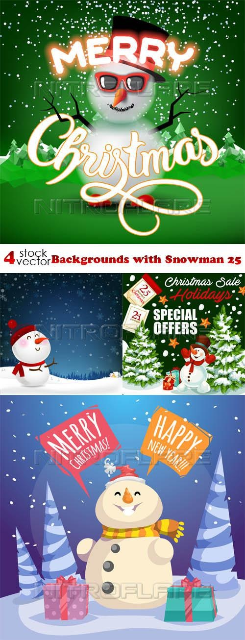 Backgrounds with Snowman 25 ((aitff (8 files)