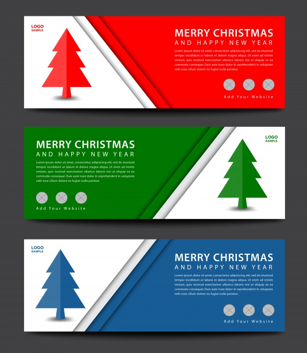 Banner abstract vector template for Christmas decorations design ((eps (12 files)