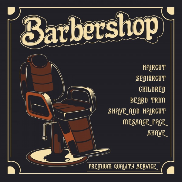 Barbershop poster vector illustration ((eps (28 files)