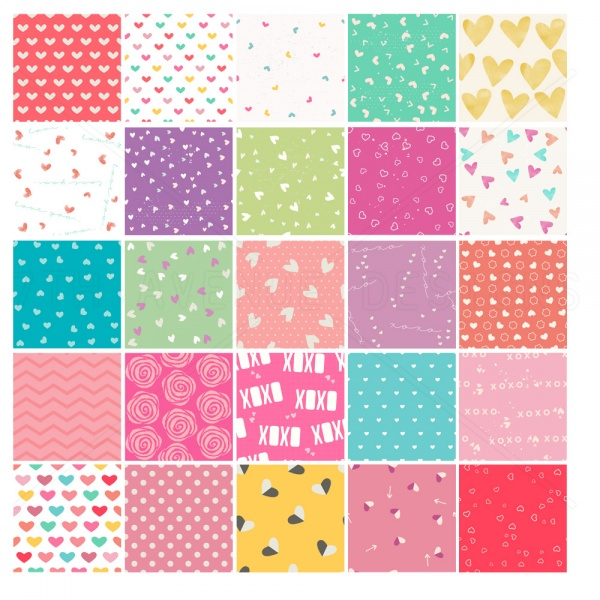 Be Mine Seamless Patterns ((eps ((png (153 files)