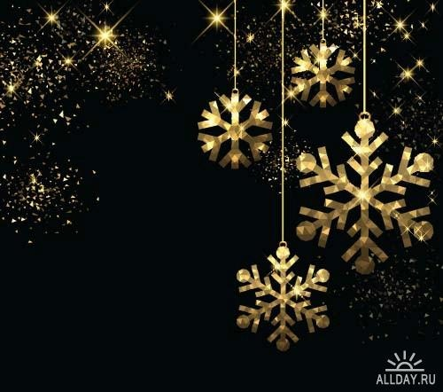 Beautiful New Year backgrounds ((eps (9 files)