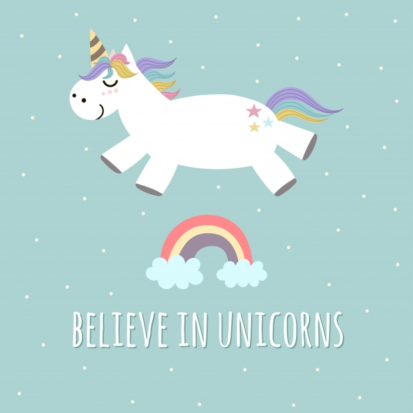 Believe in Unicorns Collection ((png ((eps ((ai (107 files)