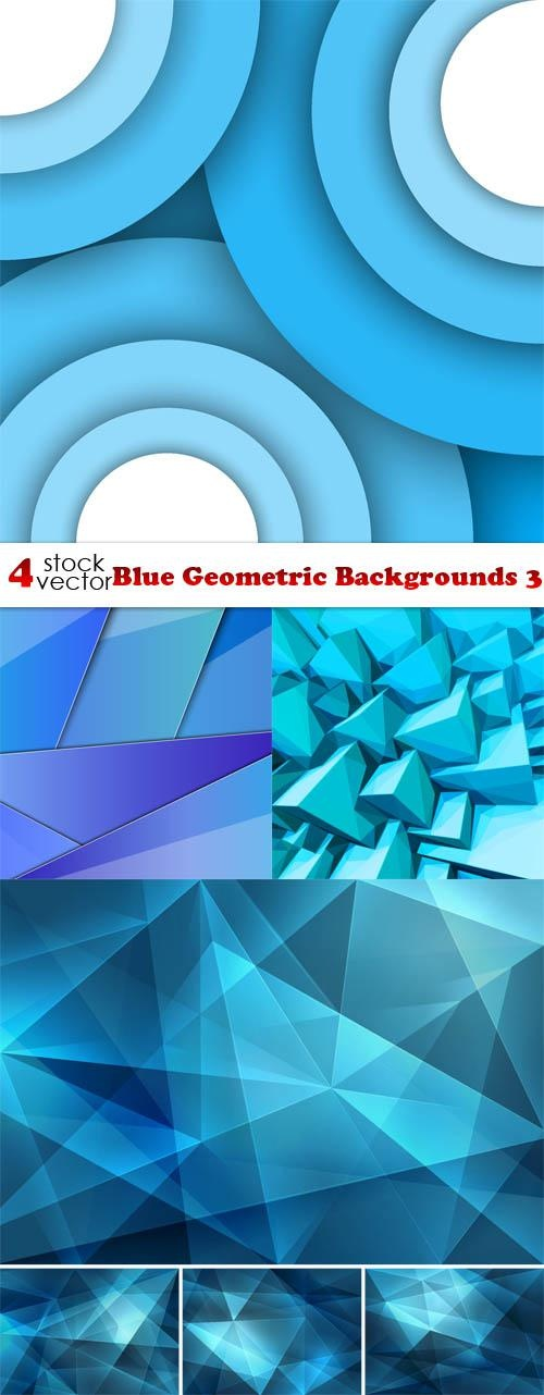Blue Geometric Backgrounds 3 ((aitff (9 files)
