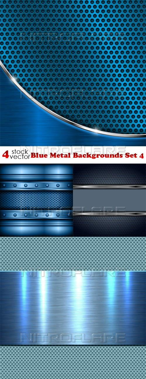 Blue Metal Backgrounds Set 4 ((aitff (8 files)