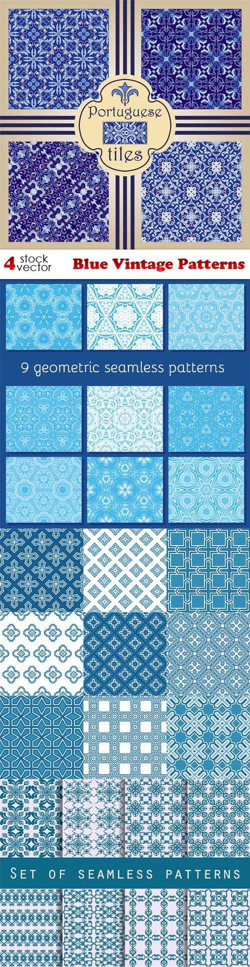 Blue Vintage Patterns ((aitff (9 files)