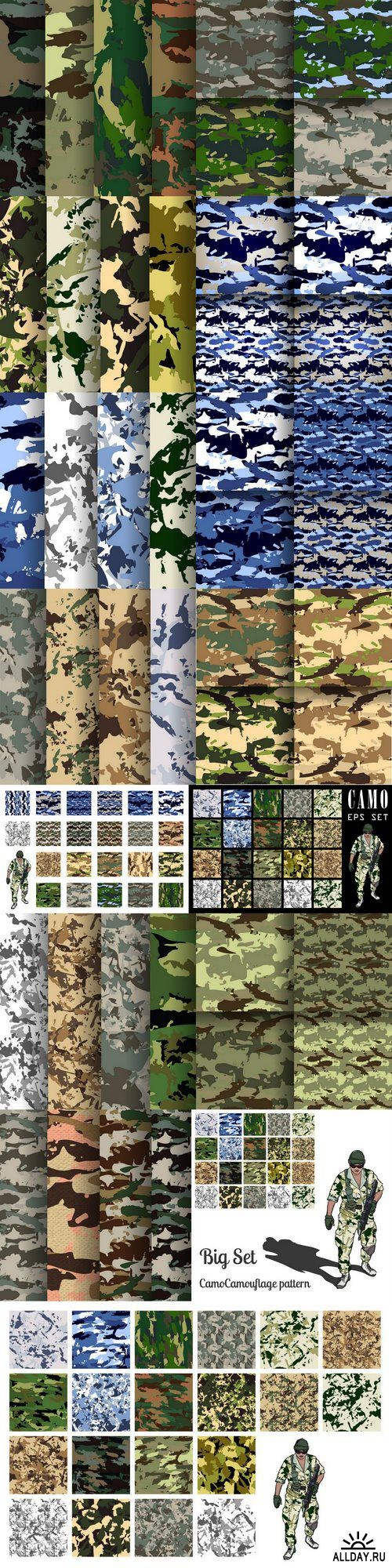 Camuflage backgrounds ((eps (16 files)