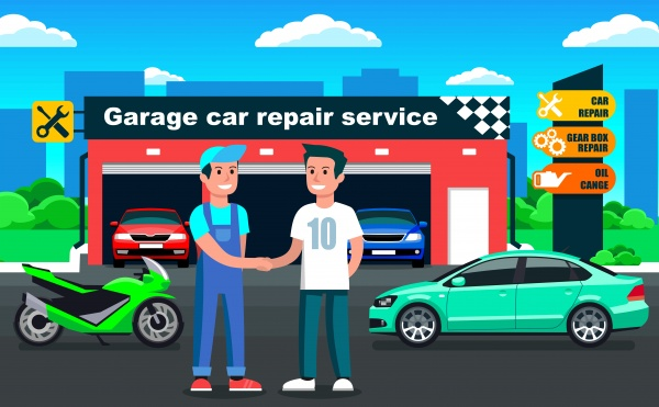 Car Service Backgrounds 12 ((eps (10 files)