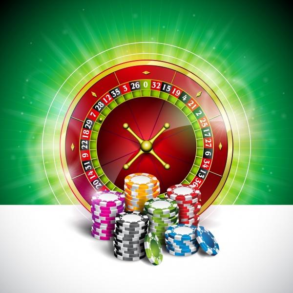 Casino vector design background ((eps (20 files)