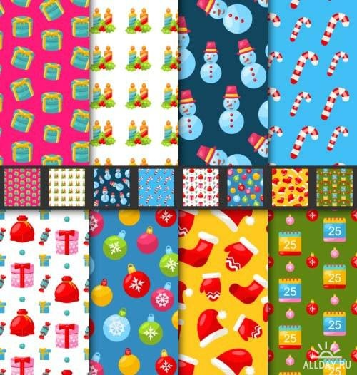 Christmas patterns 1 ((eps (7 files)