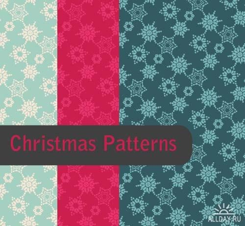Christmas patterns 2 ((eps (7 files)