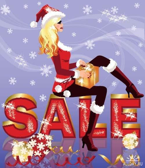 Christmas sale background ((eps (12 files)
