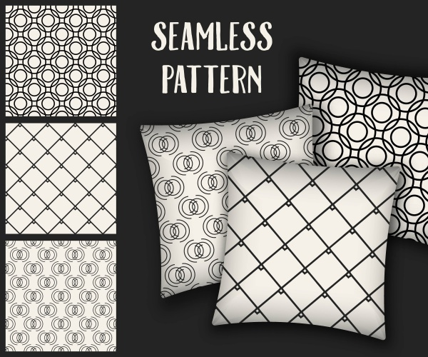 Creative abstract concept vector monochrome geometric pattern ((eps (30 files)