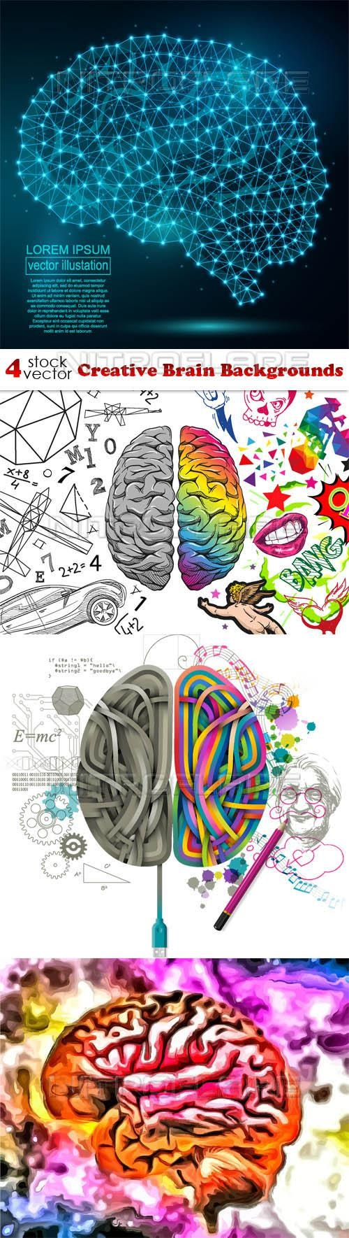 Creative Brain Backgrounds ((aitff (8 files)