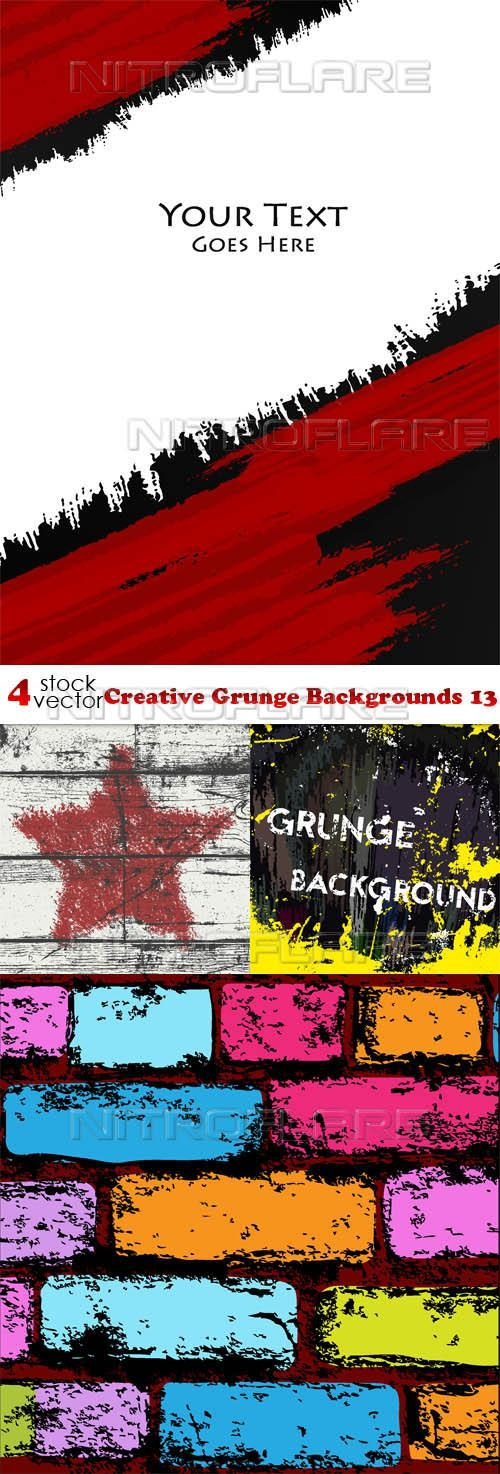 Creative Grunge Backgrounds 13 ((aitff (9 files)