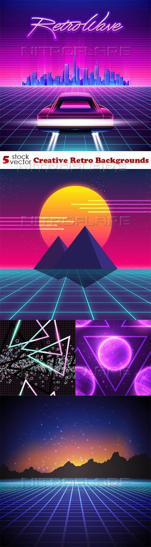 Creative Retro Backgrounds ((aitff (10 files)