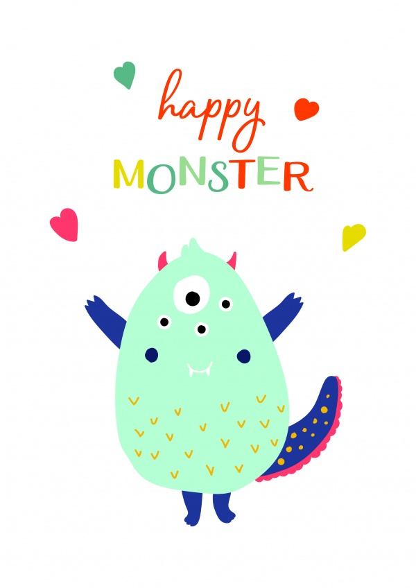 Cute Monsters Patterns ((eps ((ai (56 files)
