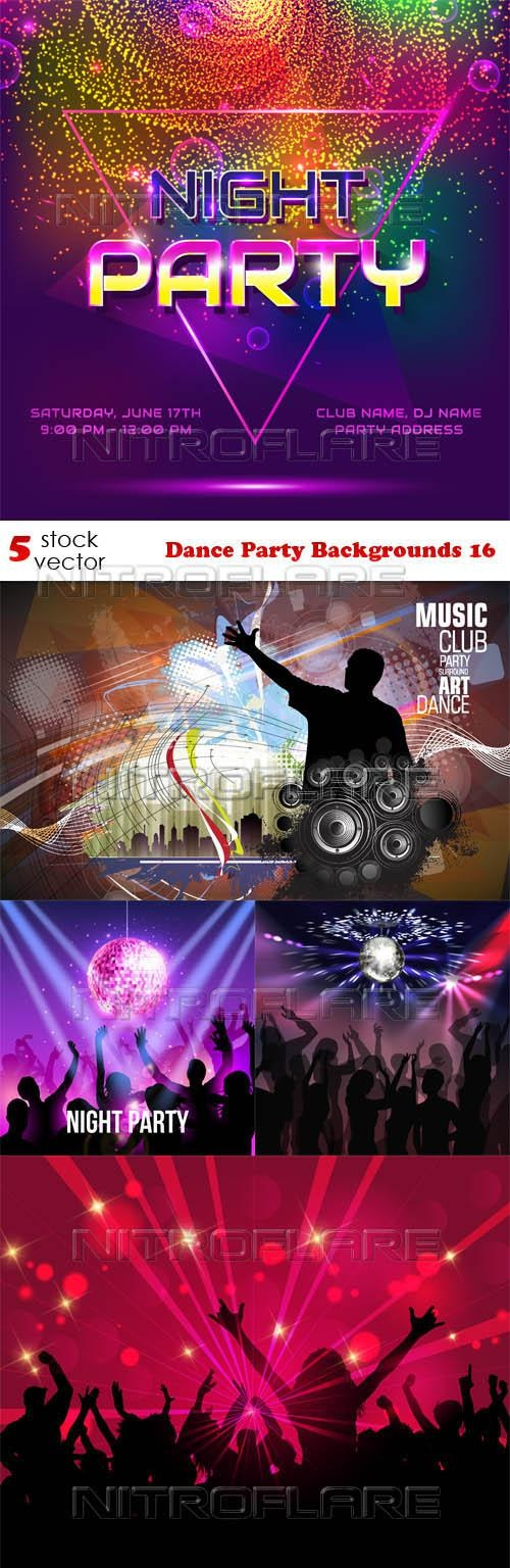 Dance Party Backgrounds 16 ((aitff (8 files)
