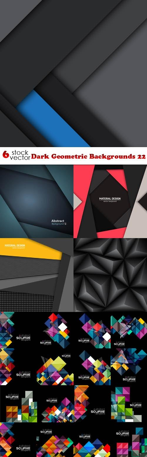 Dark Geometric Backgrounds 22 ((aitff (13 files)