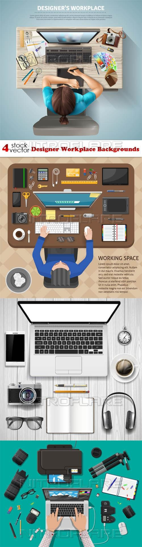 Designer Workplace Backgrounds ((aitff (8 files)