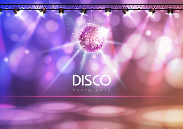 Disco Party Background ((eps (40 files)