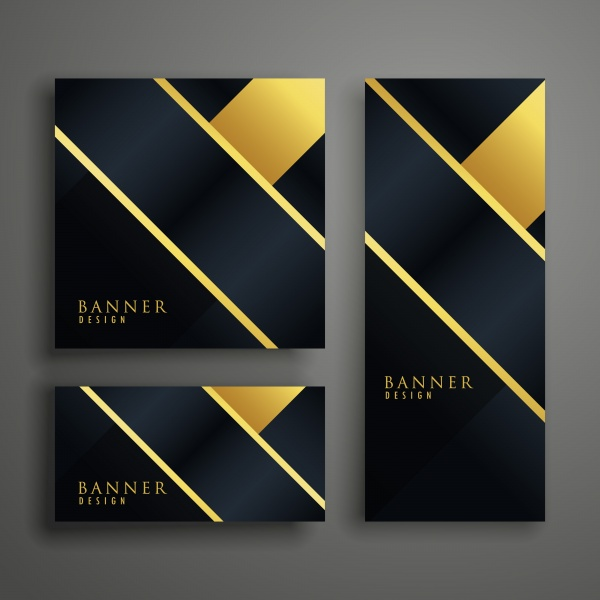 Elegant vector premium golden banner cards invitation set ((eps (18 files)