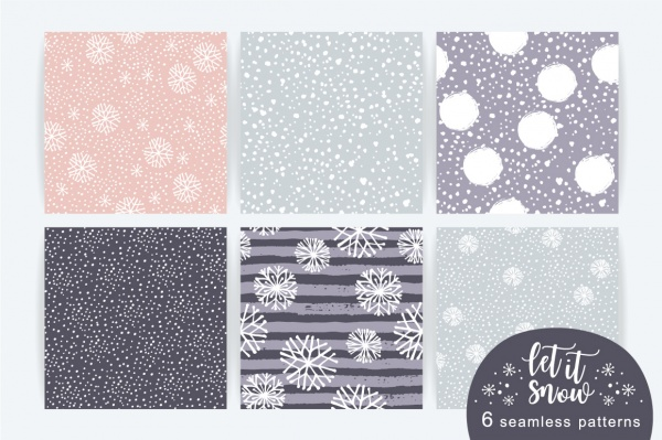 Enjoy winter time! Big vector set ((eps (64 files)