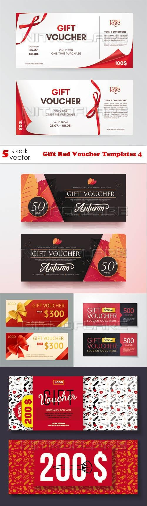 Gift Red Voucher Templates 4 ((aitff (11 files)