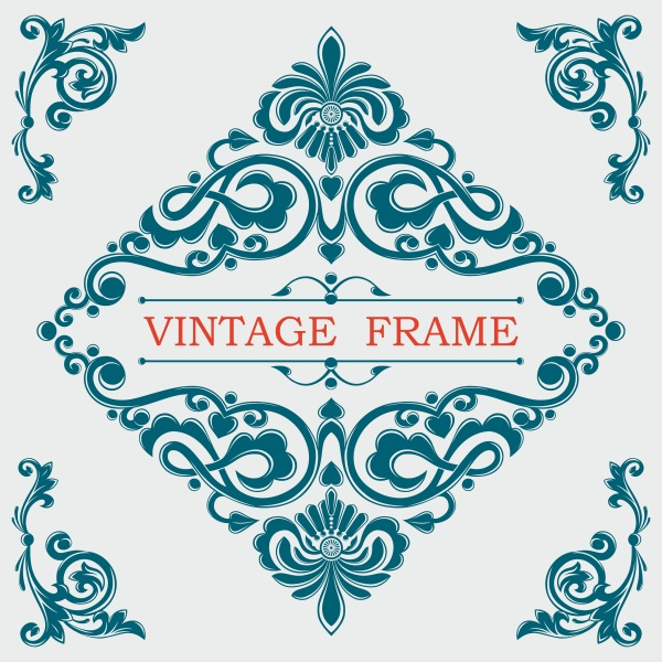 Gold decorative vector vintage frame, monogram, luxurious template ((eps (20 files)