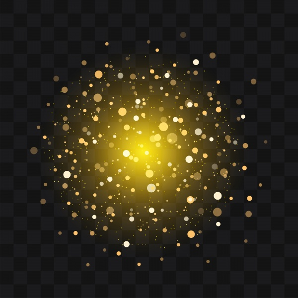 Gold vector glittering sparkling abstract particles on background ((eps (24 files)