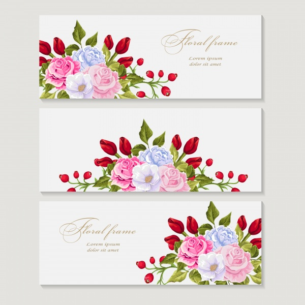 Greeting vector card with bouquet flowers for wedding, birthday and other holidays ((eps (30 files)