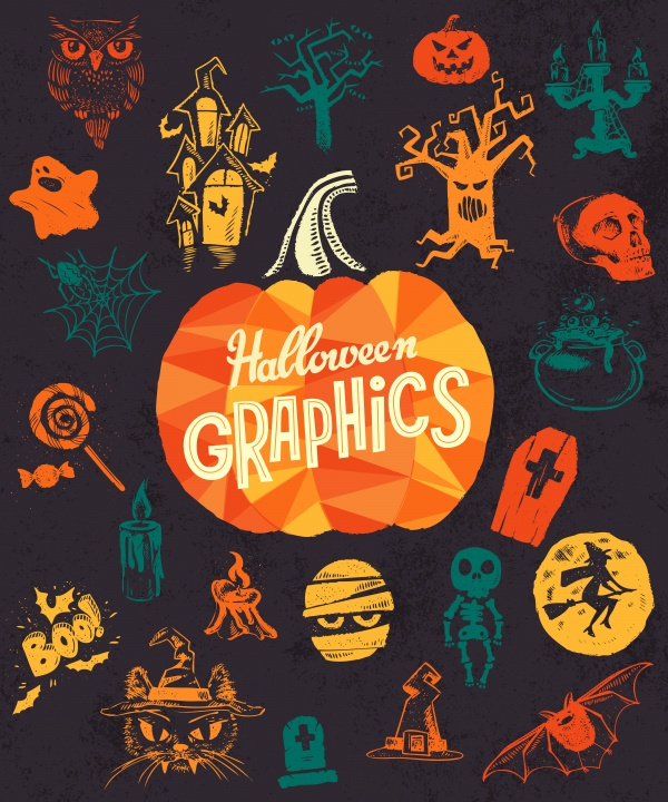 Halloween Poster. Vector illustration ((eps (20 files)