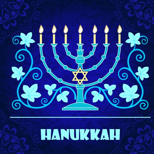 Hanukkah greeting card ((eps (12 files)