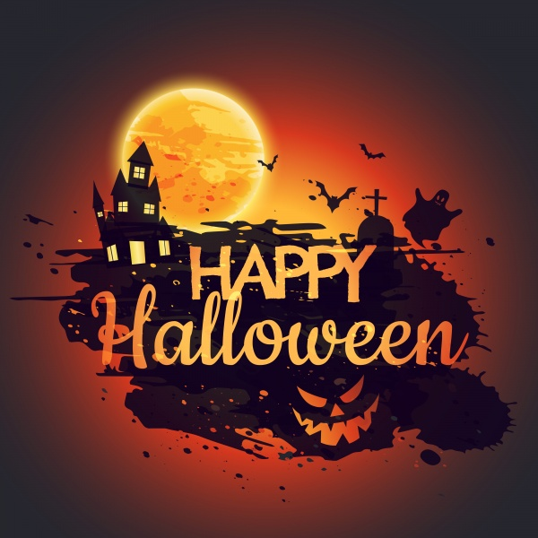 Happy halloween pumpkins poster design ((eps (72 files)