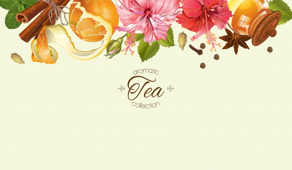 Herbal tea with lemon ((eps (26 files)