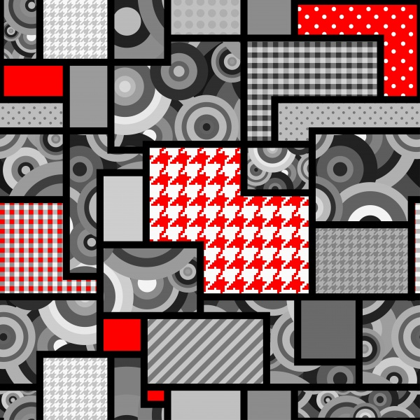 Houndstooth geometric pattern ((eps (50 files)