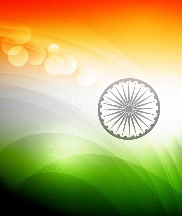 Indian flag wave ((eps (40 files)