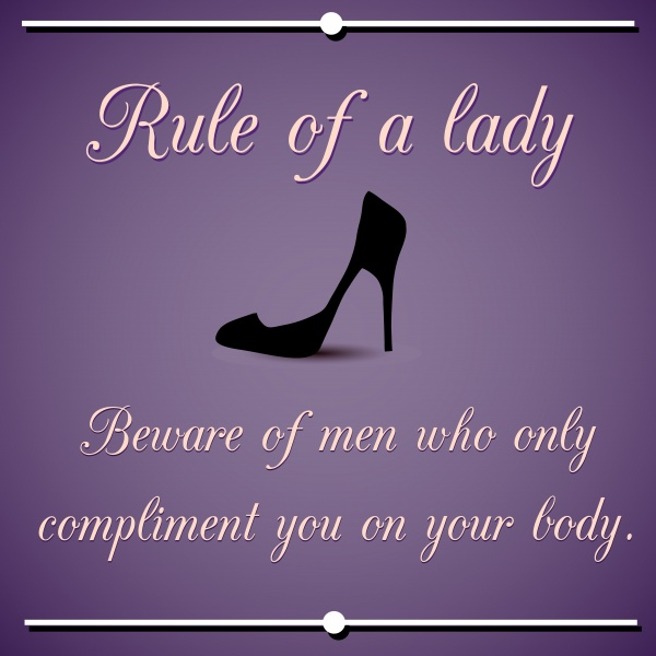 Inspirational rule of a lady. Vector quotation ((eps (36 files)
