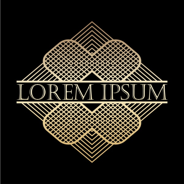 Luxury vintage golden vector frame, vector label for logo ((eps (24 files)