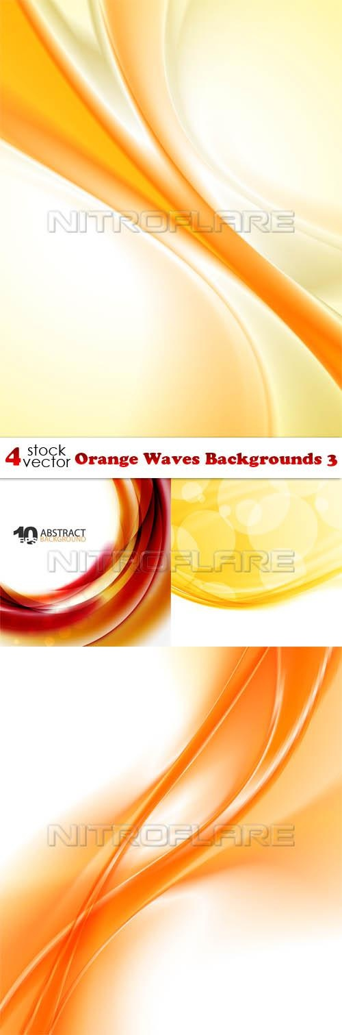 Orange Waves Backgrounds 3 ((aitff (9 files)