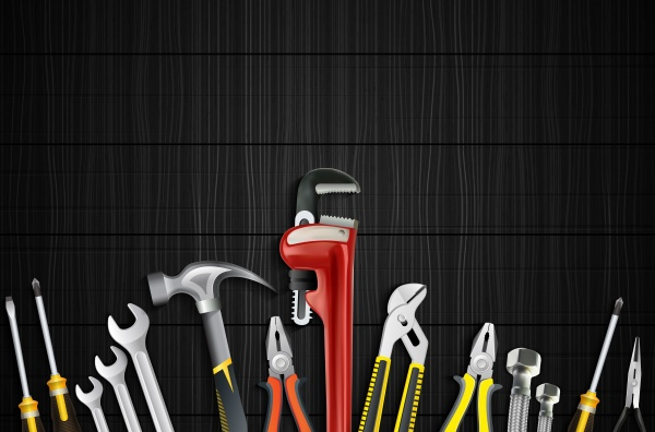 Plumbing services vector illustrations ((eps (38 files)