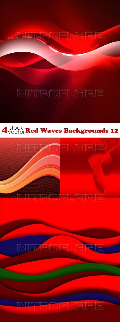 Red Waves Backgrounds 12 ((aitff (9 files)